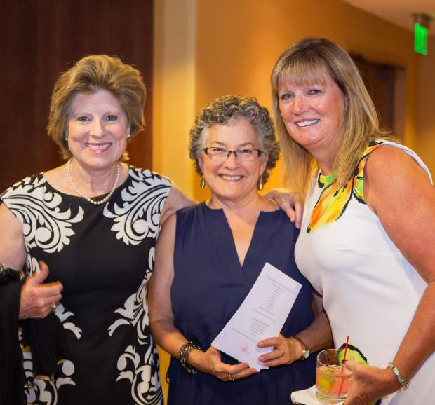Realtor Alida Zwaan, architect Beth Levine-Rosen and Lori Brown help support the Celebration of Life Luncheon, where Lee Woodruff was the guest speaker.