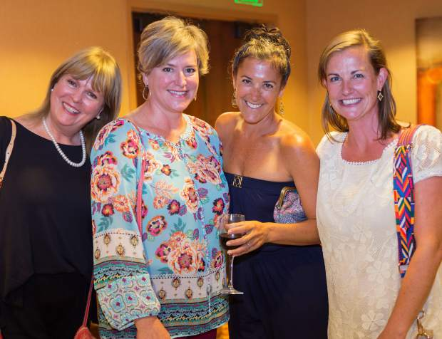 Lark Broshears, Mia Vlaar, Gabrie Higbie and Cara Connolly attend the Celebration of Life Luncheon.