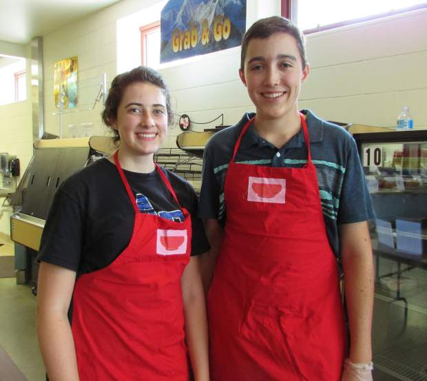 Rebecca Daly and Jonathan Daly from Vail Christian Academy wanted to help make a difference.