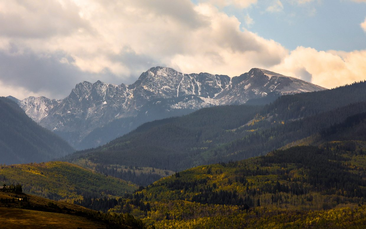 New snow on New York Mountain Saturday, Sept. 16, in Edwards.