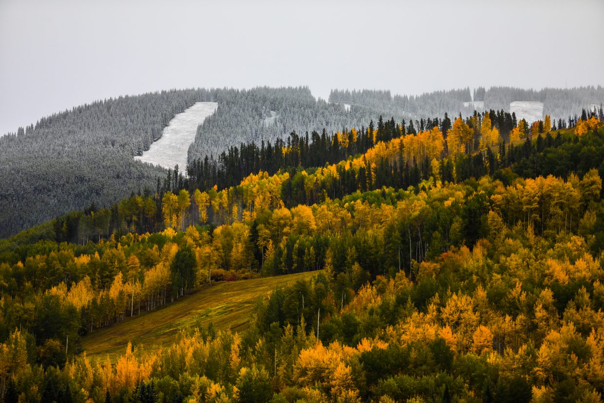 New snow and colors Saturday, Sept. 23, in Vail.
