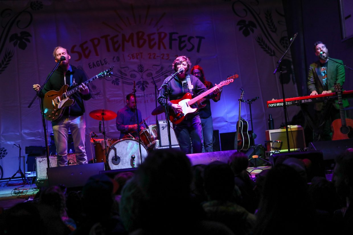 Fruition rocks the stage on the first night of the inagural Septemberfest Friday, Sept. 22, at Eagle Ranch in Eagle. The two-day event featured free concerts, and ended with Anders Osborne.