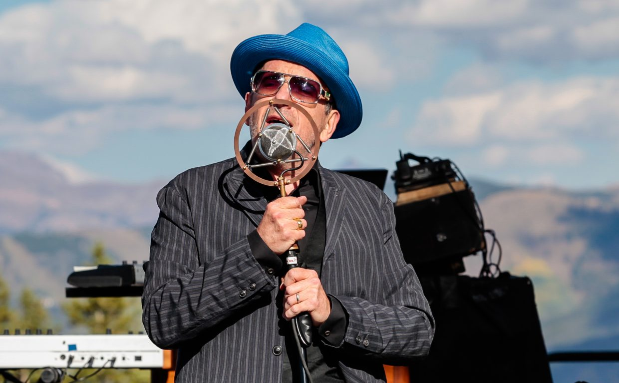 Elvis Costello and the Imposters perform for the inaugeral Hike to the Mic Saturday, Sept. 16, at Spruce Saddle on Beaver Creek Mountain, Colo. The three-day event featured music and art both on and off the mountain.