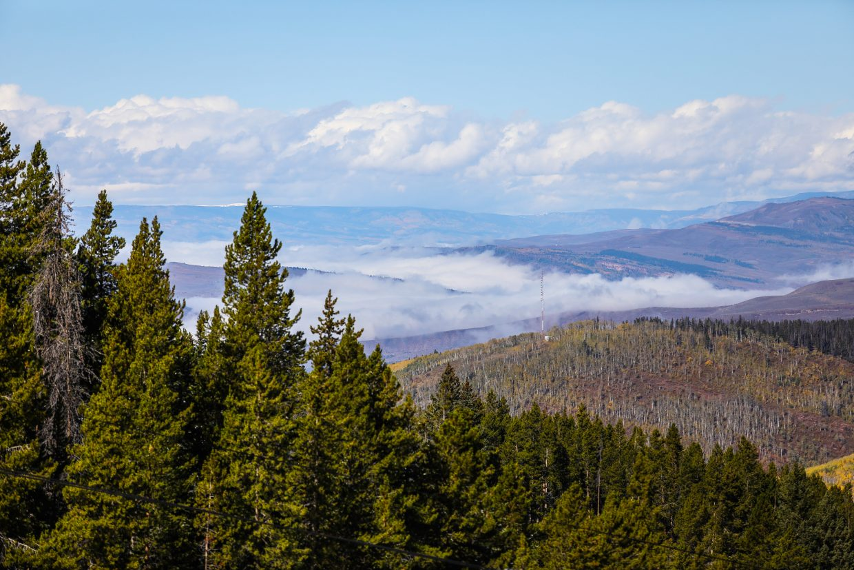 Inversion seen from Vail.