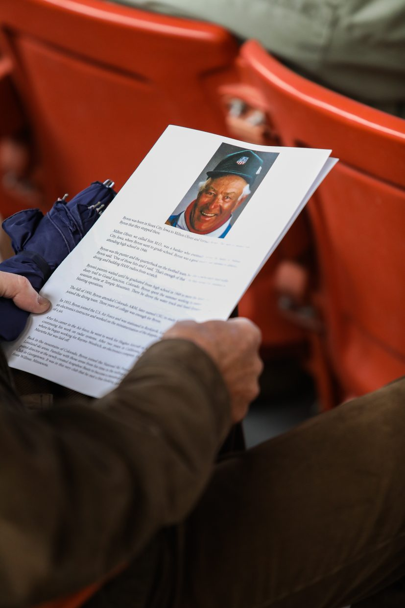 A memorial was held for Vail pioneer, Byron Brown, Friday, Sept. 29, in Vail. Brown and his wife moved to Vail in 1964.