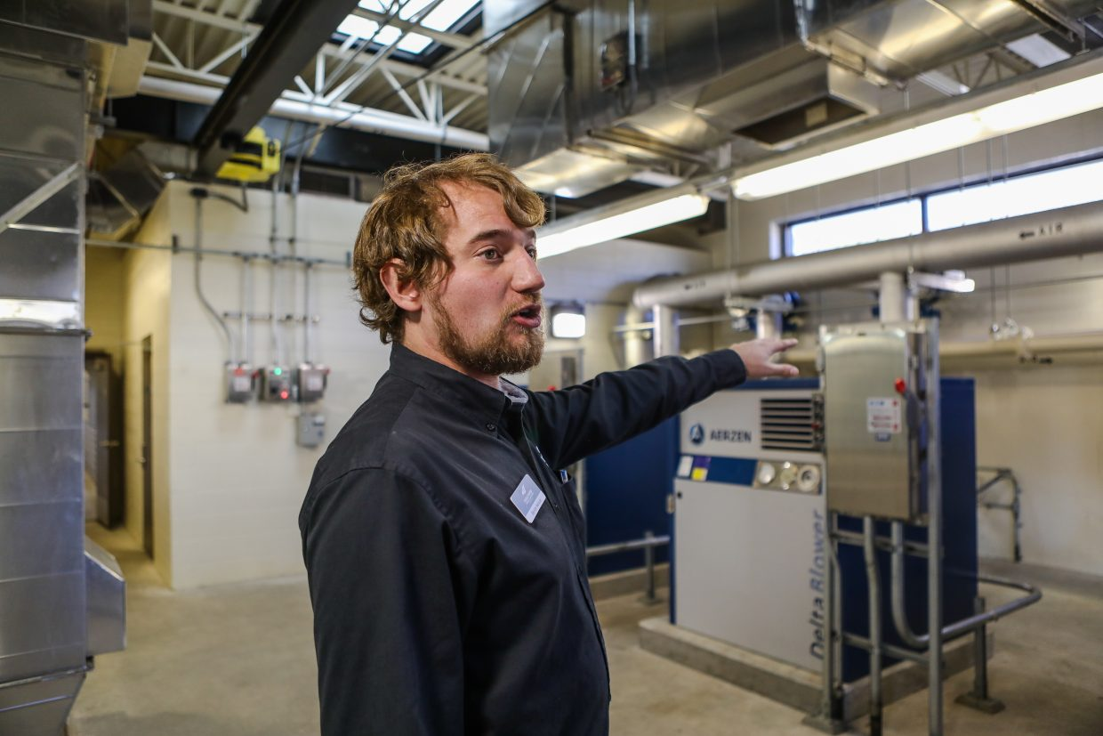 Byron Nelson with the Eagle River Water and Sanitation District gives a tour of the updated water treatment facility Tuesday, Sept. 26, in Edwards. The total cost of the project was $25 million.