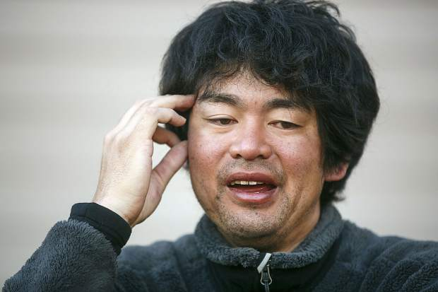 Shuei Kato, who went missing for three nights near Chaffee County's Missouri Mountain, speaks during an interview Wednesday, Oct. 11, at his home in Silverthorne.