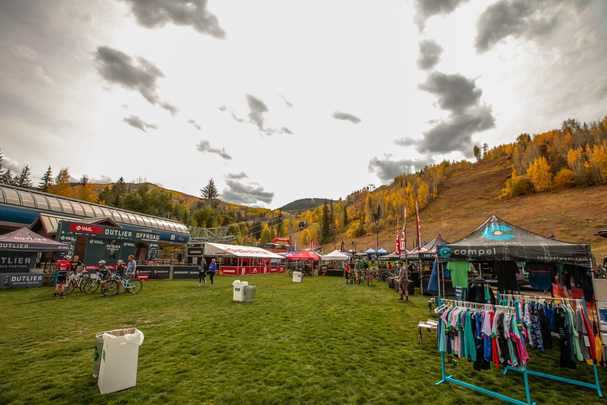 The demo area for the Outlier Festival Saturday, Sept. 30, in Vail