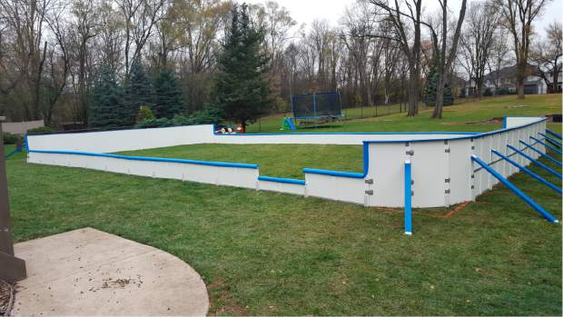 ... backyard ice rink in Toronto. Iron ... - Vail Valley HOME: Backyard Hockey Rinks Range From Simple To