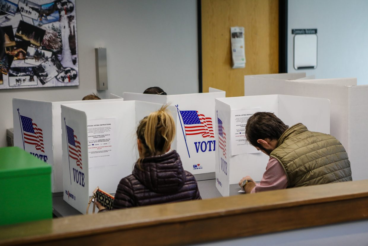 Voters participate in election day Tuesday, Nov. 7, in Vail.