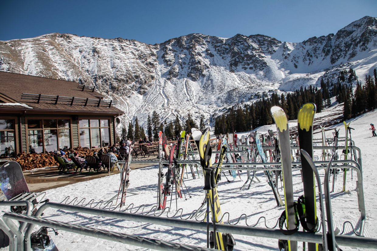 The ski season has officially begun in Colorado as people enjoy the fall weather Thursday, Nov. 2, at Arapahoe Basin in Summit County. Resorts will begin opening for the season throughout November.