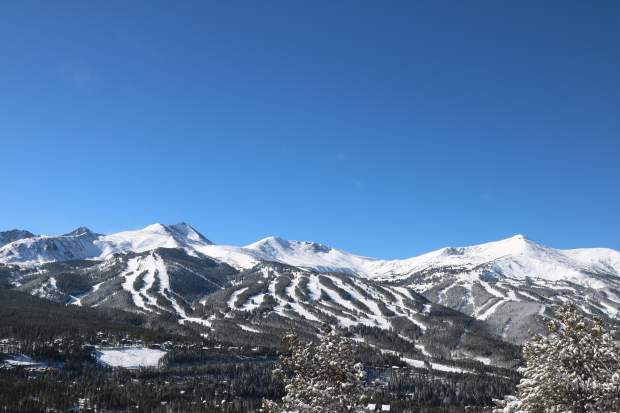 Fresh powder covers terrain at Breckenridge Ski Resort Saturday morning after Friday's storm dumped a foot of fresh snow at the resort.