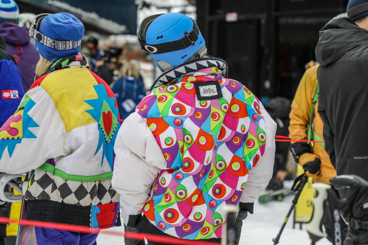 Fun jackets at Vail's Opening Day Wednesday, Nov. 22, in Vail.