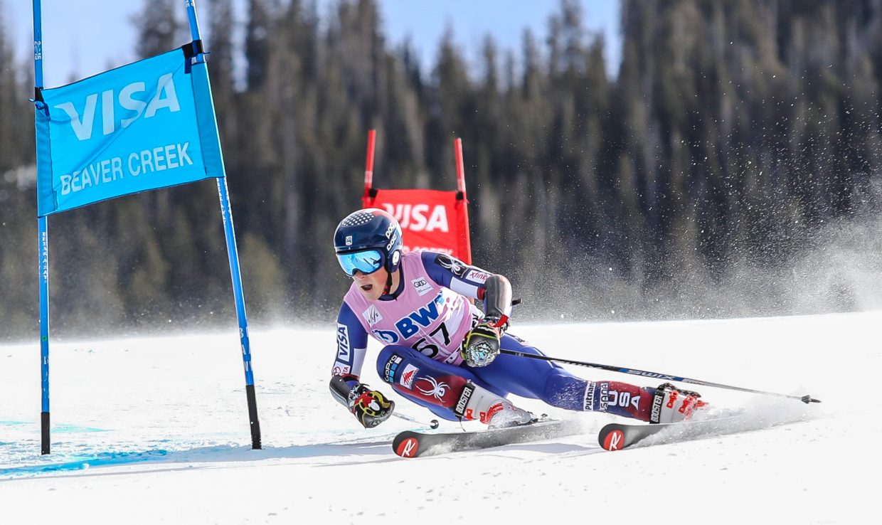 River Radamus, of USA, makes his debut World Cup Start on the Giant Slalom for the Birds of Prey on Sunday, Dec. 3, in Beaver Creek. Radamus placed 38th.