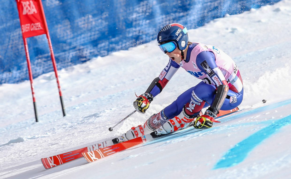 River Radamus, of USA, makes his debut World Cup Start on the Giant Slalom for the Birds of Prey on Sunday, Dec. 3, in Beaver Creek. This was the 19-year-old's first World Cup start.