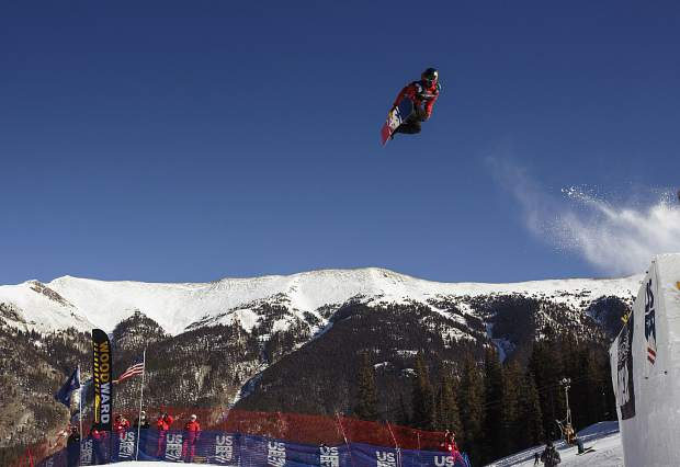 Silverthorne resident Chris Corning of United States competes in the big air final during the U.S. Grand Prix event Sunday, Dec. 10, at Copper Mountain.