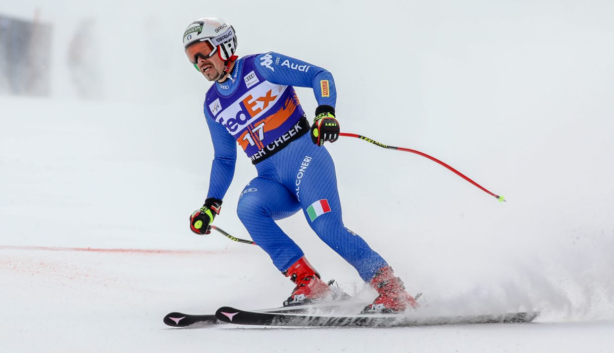 Peter Fill of Italy finishes his Super-G run for the Birds of Prey on Friday, Dec. 1, in Beaver Creek. Fill won the Downhill Cup last year.