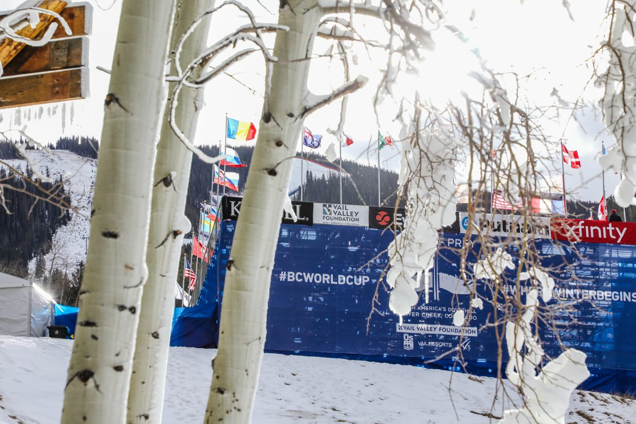 The Birds of Prey finish area before the Super-G race on Friday, Dec. 1, in Beaver Creek. The races run through Sunday, Dec. 3, finishing with Giant Slalom.