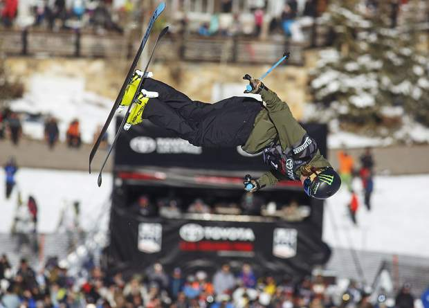 David Wise of the United States competes in the halfpipe finals during the U.S. Grand Prix World Cup event Friday, Dec. 8, at Copper Mountain. Wise won the event with a score of 92.80.