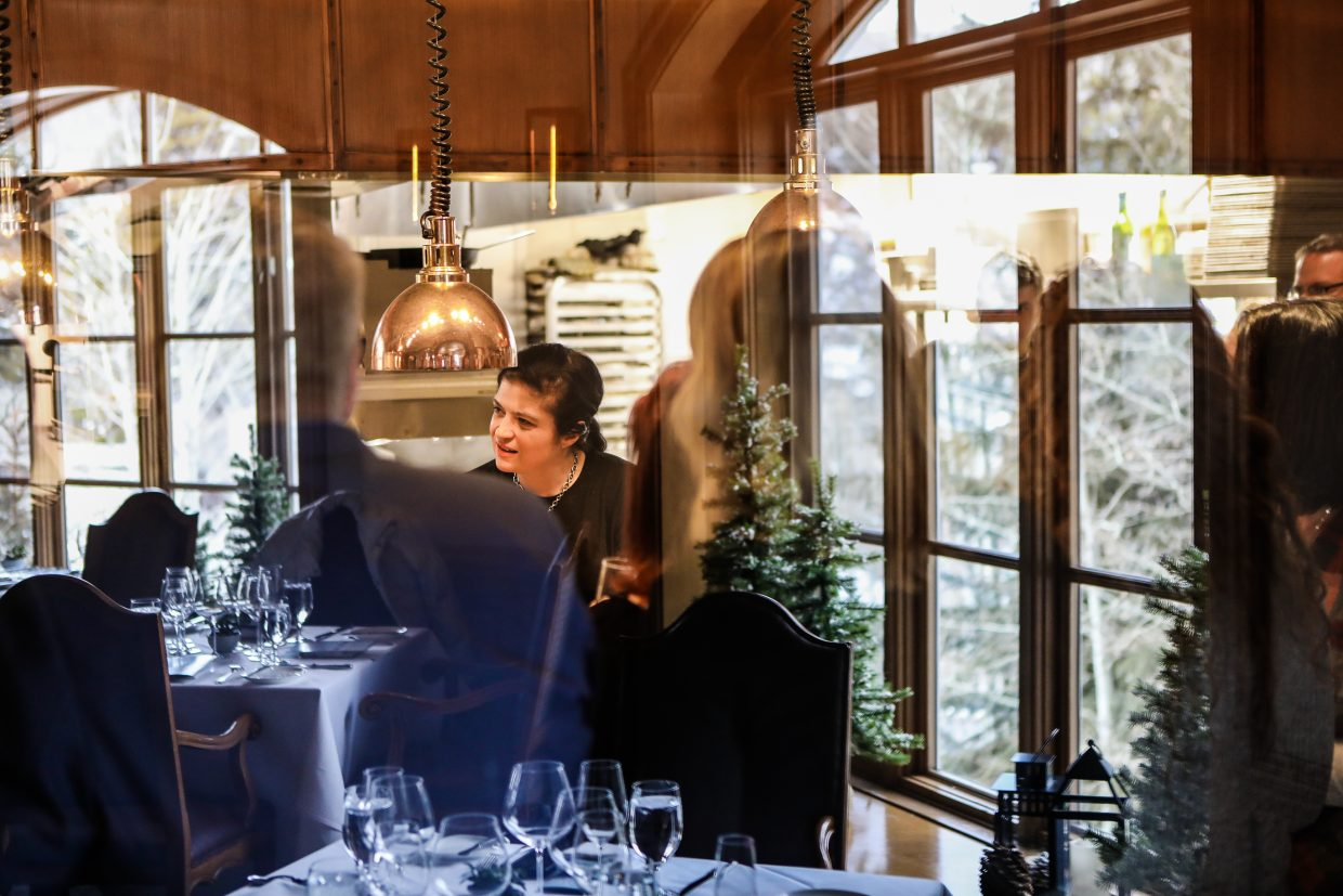 Celebrity chef, Alex Guarnaschelli cook for guests during Beaver Creek Culinary Weekend on Saturday, Jan. 20, at Splendido in Beaver Creek. The chef cooked lunch, and answered all questions, while patrons looked on at the Chateau.