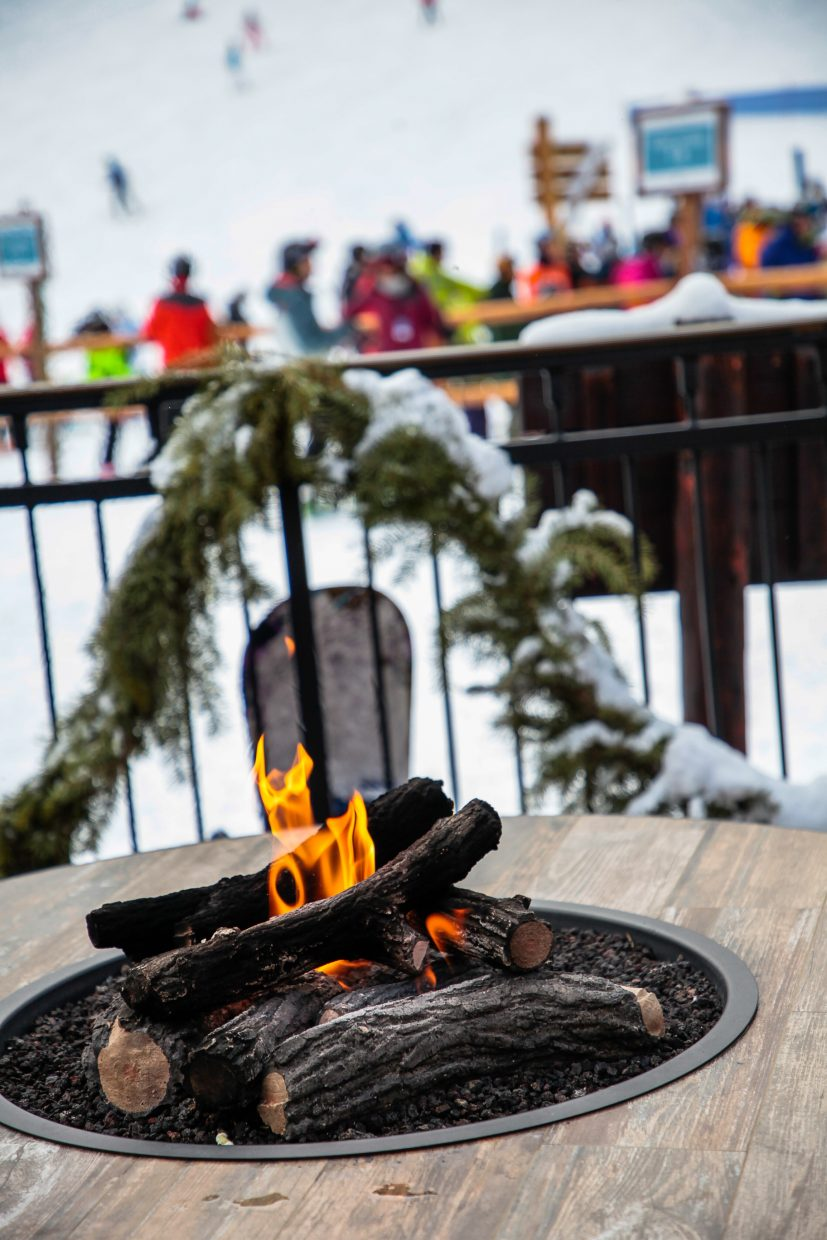 Fire warms people on Christmas Day on Monday, Dec. 25, in Beaver Creek.