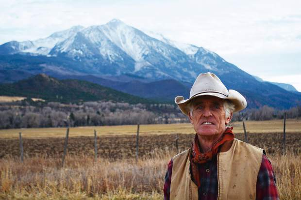 12,965-foot Mount Sopris lies southwest of Bill Fales' Cold Mountain Ranch. Under the terms of the conservation easement that Fales sold to protect his property from development, the water rights must remain with the land.