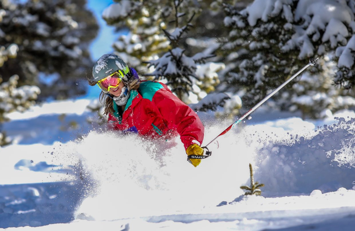 Devyn Moore, of Deards, makes turns in China Bowl on Friday, Jan. 13, in Vail. China Bowl, as well as parts of Blue Sky Basin, opened for the season. More terrain is expected to open as Ski Patrol midegates