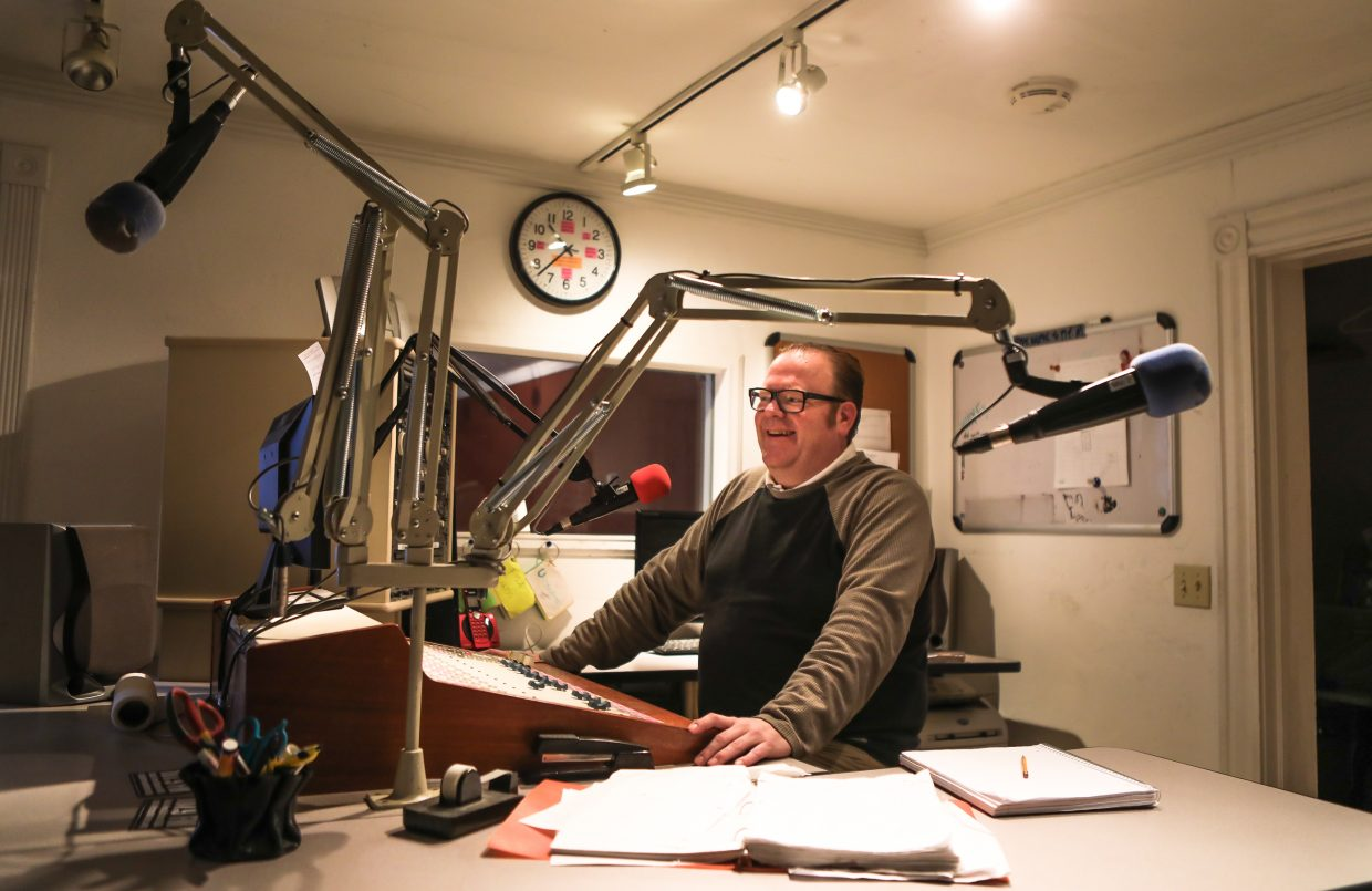 """Austin """"A-Train""""  Richardson poses for a portrait at Radio Free Minturn on Friday, Dec. 22, in Minturn. With changing times comes change for the radio station, which may not go off the air but will undergo changes."""
