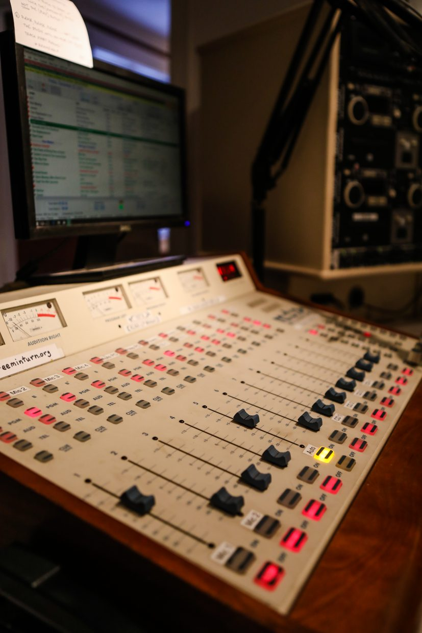 The control panel at Radio Free Minturn on Friday, Dec. 22, in Minturn. Vail Jazz will become stewards of the station.