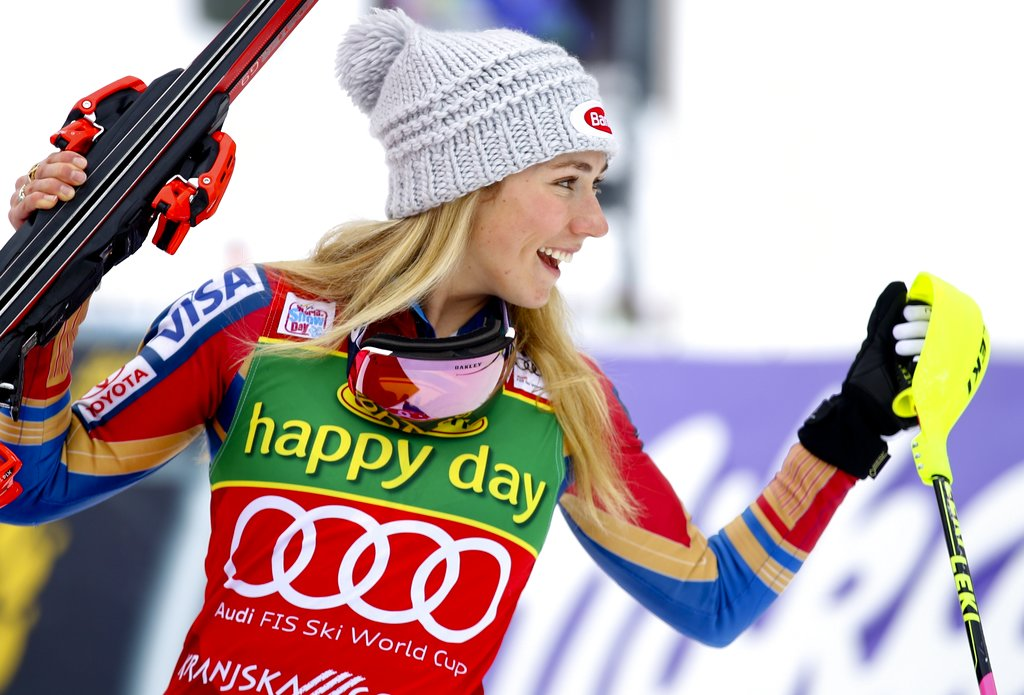 photo - Mikaela Shiffrin Slovenia Alpine Skiing World Cup