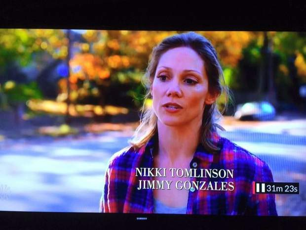 Granby native Nikki Tomlinson on screen in