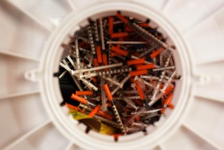 photo - Sharps disposal at the Harm Reduction Action Center