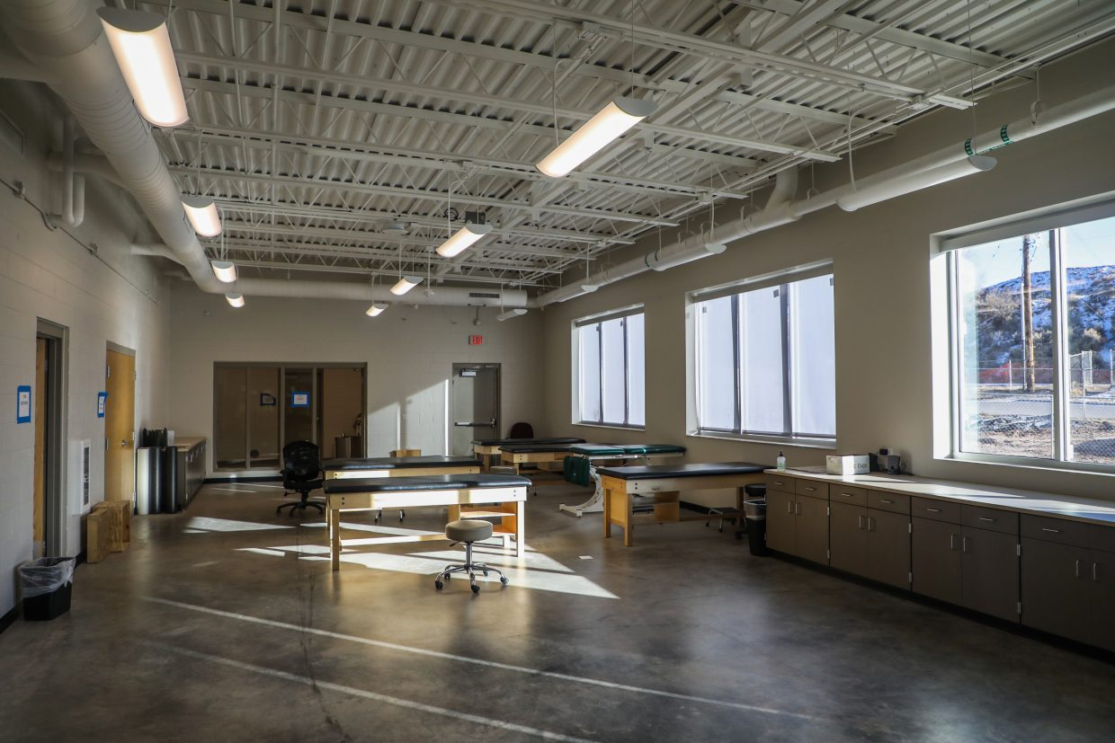 The new physical therapy room in Eagle Valley High School on Wednesday, Jan. 24, in Gypsum. A new athletics addition, to the tone of 8,000 square-feet, was added to the school.