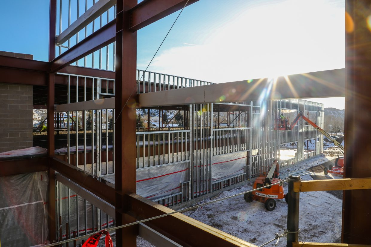 Work is done on the new Eagle Valley Elementary School on Wednesday, Jan. 24, in Eagle. The construction is part of the bond referendum passed November 2016.