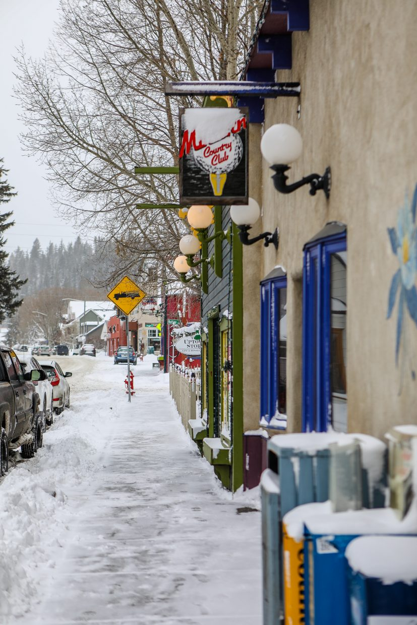 Downtown Minturn with a fresh coat of snow on Sunday, Jan. 21, in Minturn. Morgan Reed Group bought the 100 block of Main Street for a reported $4 million.