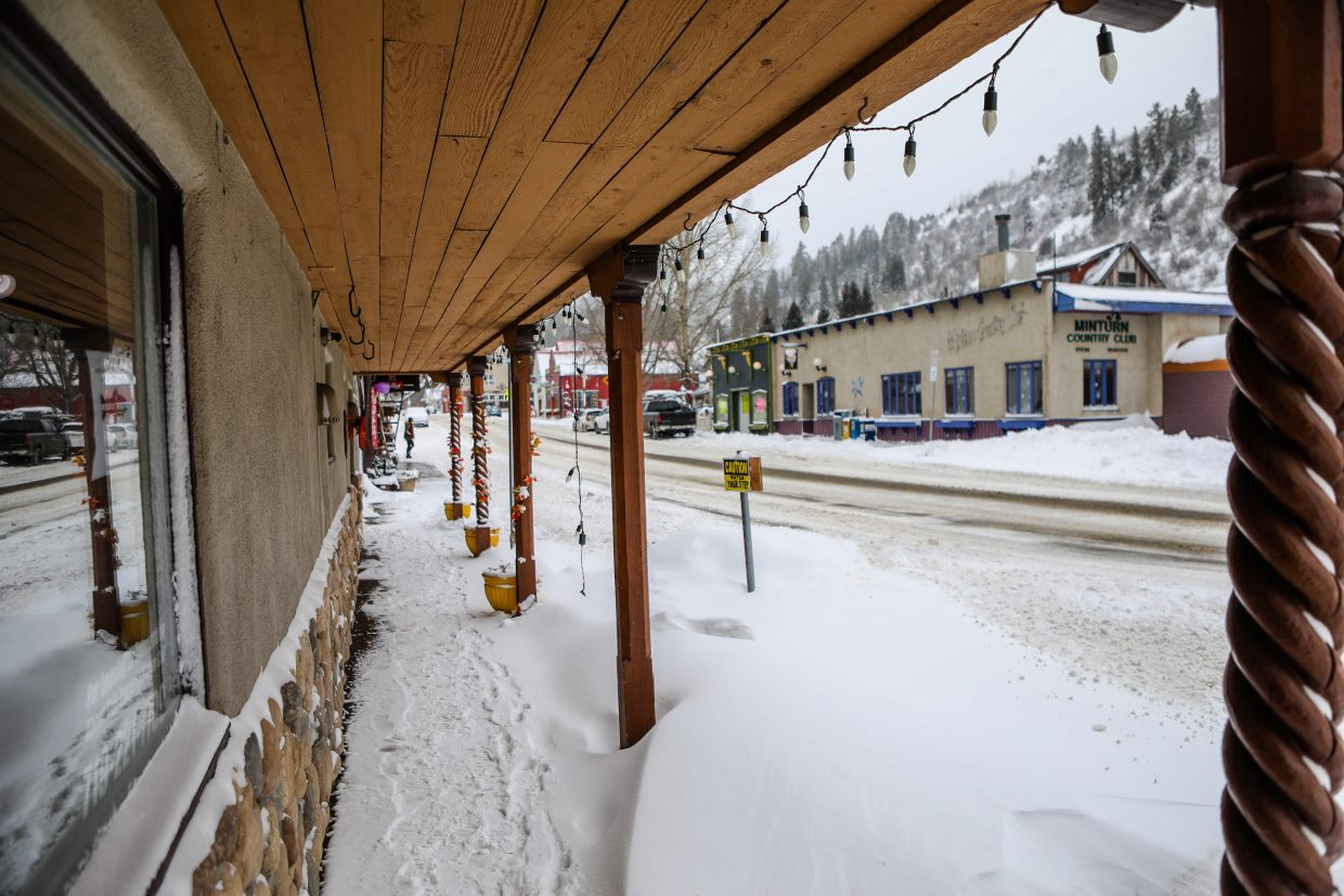 The vacant former Minturn Anglers in downtonwn Minturn on Sunday, Jan. 21, in Minturn. The fly shop moved across the street to the old Weston Snowboards building.