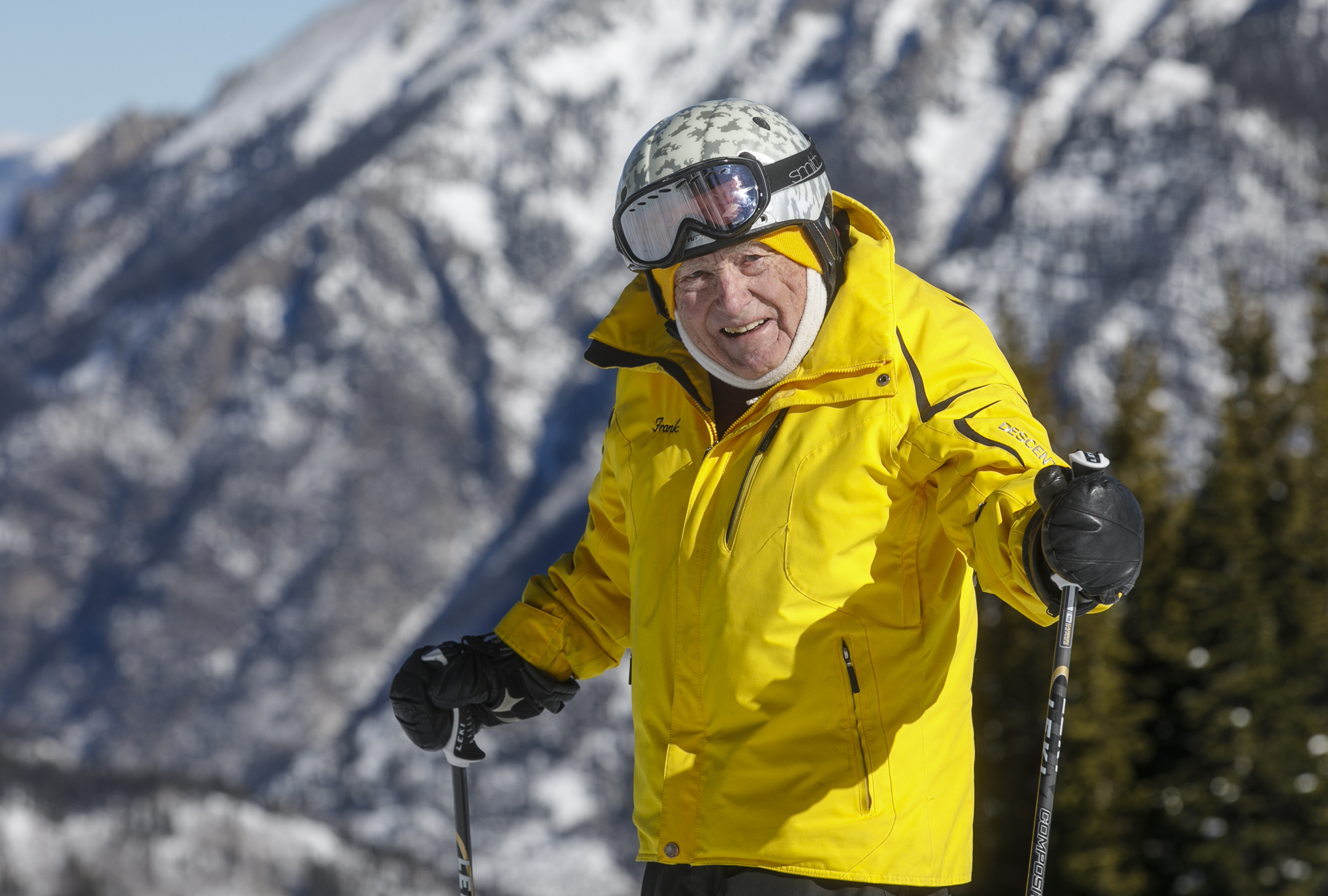 photo - Frank Walters skiing at Copper Mountain Wednesday, Jan. 17.