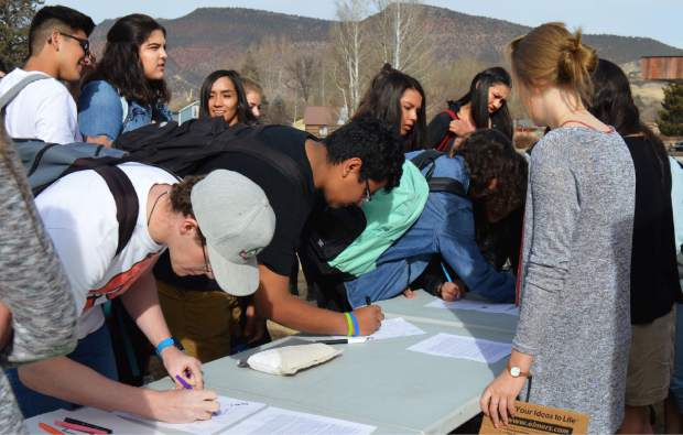Hundreds of students signed a letter to be sent to elected officials around Colorado and the nation, demanding action for safety in their schools.