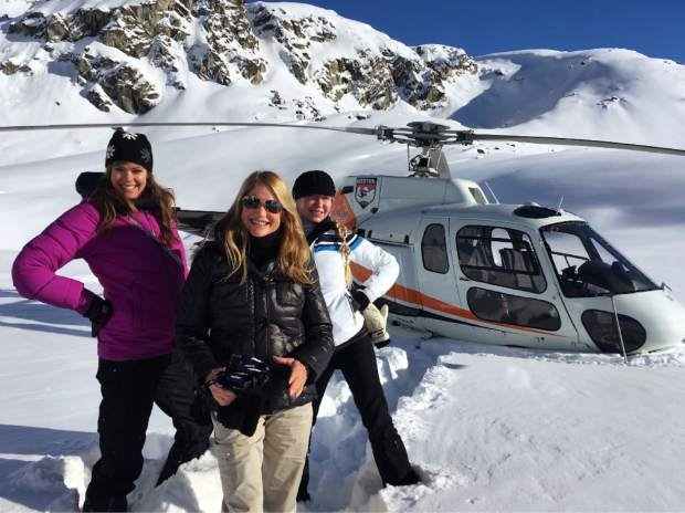 You'll take a helicopter to reach Sheldon Chalet, 10 miles from the summit of Denali. From left are Vail Valley locals Kate Sheldon, Marty Baumgart and Doe Browning.