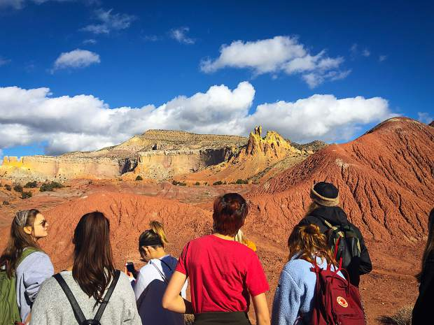 Ghost Ranch in New Mexico served as a muse for VMS Upper School students learning about the art of Georgia O'Keefe.