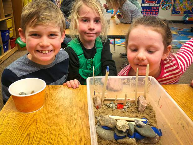 Lower School students learned about oceans through interdisciplinary explorations of topics related to our planets seas. Their projects included miniature wave tanks to experiment with different ways to help slow beach erosion and protect coastal communities.