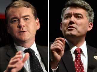 photo - Michael Bennet (left) and Cory Gardner of Colorado