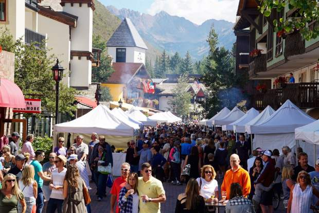 Gourmet on Gore takes place over Labor Day Weekend and is an open-air tasting of wine, beer and spirits along with food from Vail's top restaurants.