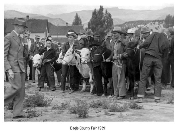 This is one of the cattle judging events during the first Eagle County Fair & Rodeo, Sept. 16, 1939. The 78th annual event returns in July.