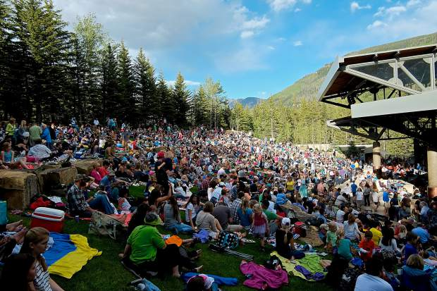 The Gerald R. Ford Amphitheater doors open at 5:30 p.m. on Tuesdays for the free Hot Summer Nights concert series in Vail. All shows starts at 6:30 p.m.