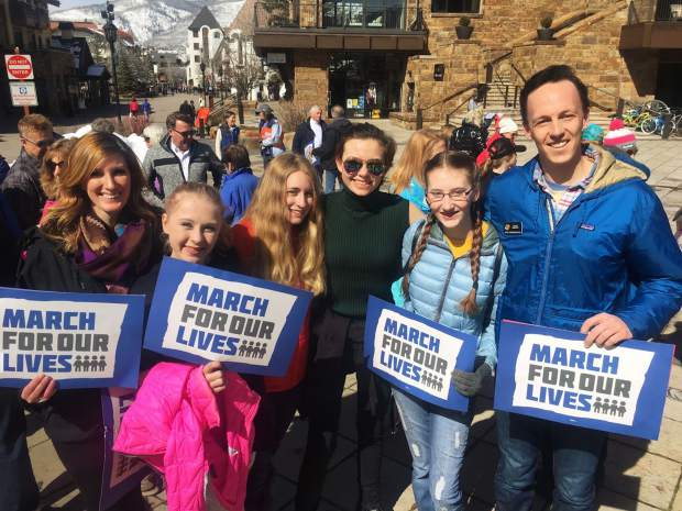 March for Our Lives organizer Kathryn Foley and local students made their voices clear about wanting stricter gun laws and were joined by Colorado State Representative Dylan Roberts during the March 24 event.
