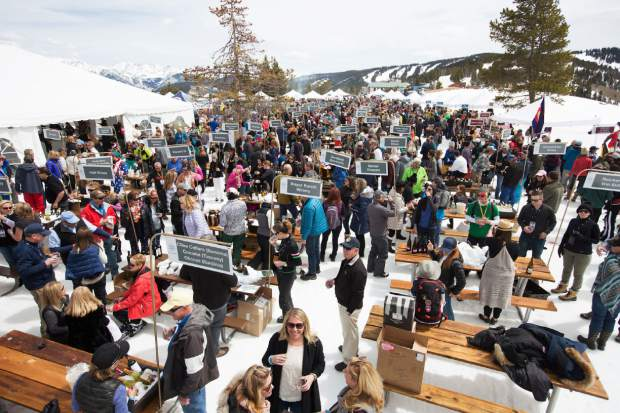 The Mountain Top Tasting returns to Taste of Vail on Friday, April 6, providing a unique dining experience at 10,350 feet above sea level.
