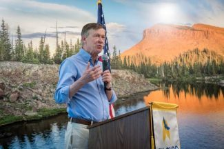 photo - Gov. John Hickenlooper at CMC Moorgridge Commons