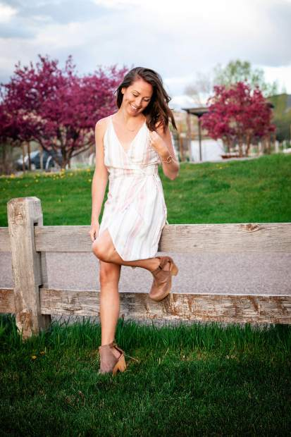 Dress by GF Collection and clogs by Free People, both are carried at Valley Girl.