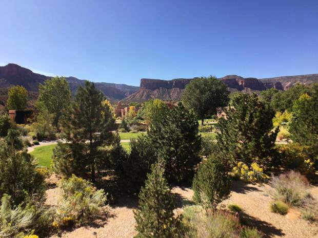 The landscape at Gateway Canyons is spectacular, as is the drive.